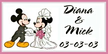 Mickey &amp; Minnie Favor Tag